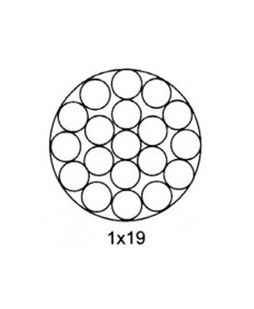 ខ្សែលោហៈដែកអ៊ីណុក (Stainless steel wire rope, 1x19 , 7x19)
