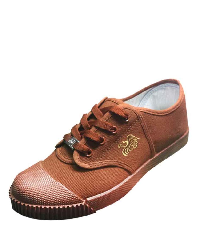 รองเท้านักเรียนผ้าใบสีน้ำตาล FB5799