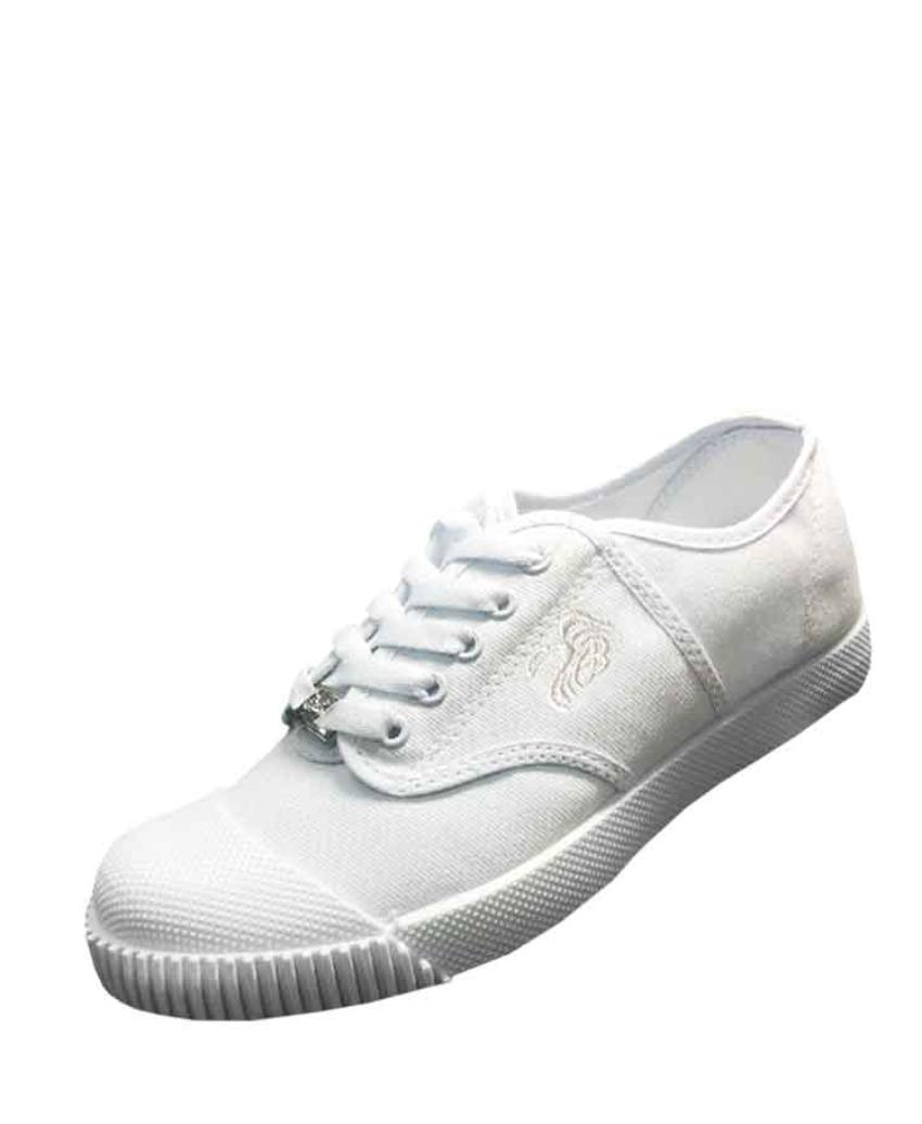 รองเท้านักเรียนผ้าใบสีขาว FB5799